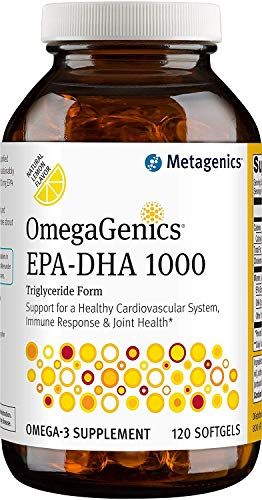 Metagenics OmegaGenics® EPA-DHA 1000 – Omega-3 Oil – Daily Supplement to Support Cardiovascular, Musculoskeletal, & Immune System Health, 120 count