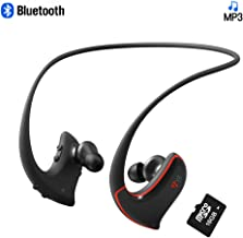 Bluetooth Sports MP3 Headphones with 16GB TF Card Wireless Wearable Music Player Headset IPX4 Splashproof Sweatproof MP3 Earbuds with Bluetooth for Running Gym Jogging Hinking and Study VZ SPORT MATE