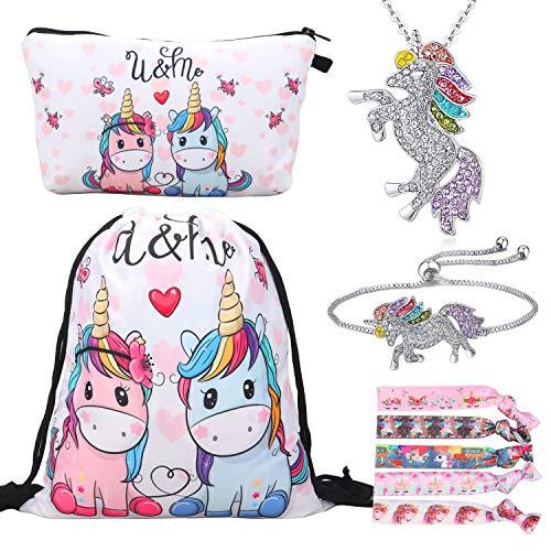 RLGPBON Pack de 5 Regalos de Unicornio para niñas, Mochila con cordón...