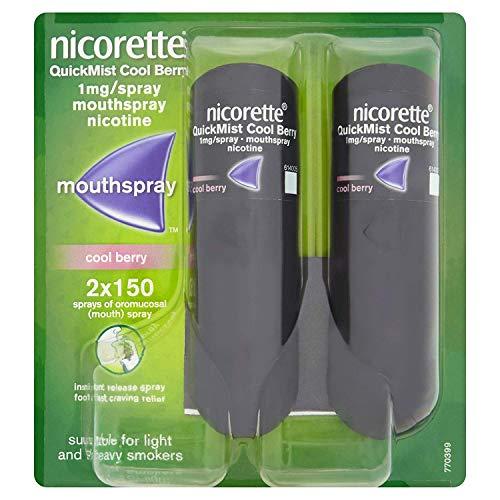 Nicorette Fruit & Mint Spray 2 x 13,2 ml mit 2 x 1 mg pro Sprühstoß