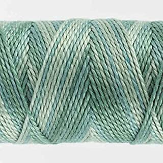WonderFil Specialty Threads Sue Spargo Eleganza 2-ply #8 Perle Cotton Variegated, Serene Green #22