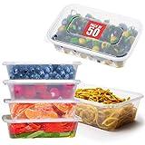Suhsai Recipientes de comida para loncheras Recipientes de plástico para microondas con tapa Caja de alimentos Recipiente apto para lavavajillas 1000 ml