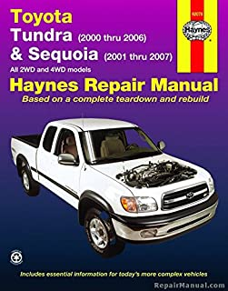 H92078 Haynes 2000-2006 Toyota Tundra 2001-2007 Sequoia Repair Manual