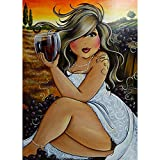 DIY 5D Full Drill Fat Lady Square Diamond Painting by Number Kits for Adults and Children Sexy Woman Yoga Crystal Rhinestone Cross Stitch Cartoon Pictures for Wall Decoration (FL40, 12x16IN/30x40cm)