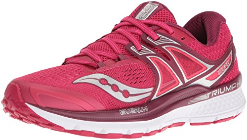 Saucony Triumph ISO 3, Scarpe Running Donna, Rosa (Pink/Berry/Silver), 38.5 EU