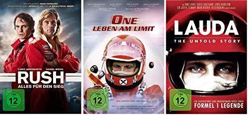 Niki Lauda - Rush / One-Leben am Limit / Lauda: The Untold Story im Set - Deutsche Originalware [3 DVDs]