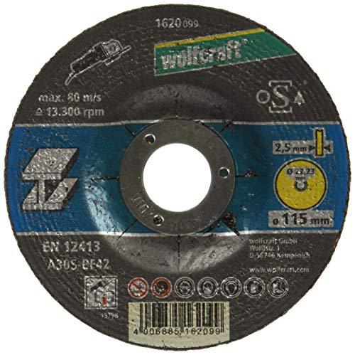 Wolfcraft (L) disco de corte para metal, cubo deportado, granel, plata, PACK 1