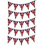 Nicejoy 2021 British Bunting, 14 Piezas Colgantes Banderas Campeonato Europeo de Fútbol de la Bandera de Cuerda 8M de Eurovisión del Partido del hogar al Aire Libre Decoración Copa de Europa