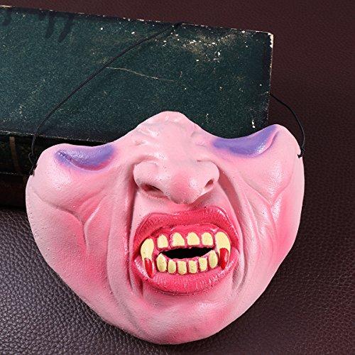 TOYANDONA 1 peça Cosplay Halloween Vampiro Látex Meia Máscara Bucal Acessório para Halloween Cosplay Máscara