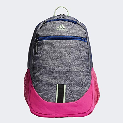 adidas Unisex Foundation Backpack, Onix Jersey/Shock Pink/Collegiate Royal/Glow Green, ONE SIZE