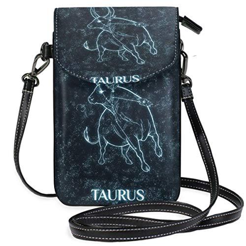 XCNGG Taurus - Cartera para teléfono móvil para mujer, niña, pequeña, bandolera