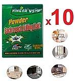 Pack 10 sachets de Poudre piège répulsif Non dangereuse pour les enfants et Animaux contre Anti cafard blattes & Petites betes (10 SACHETS)