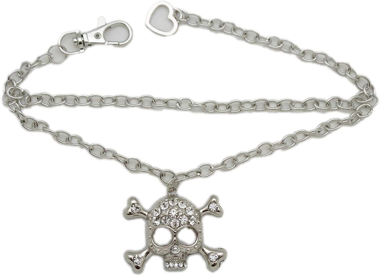 Ð¡harm - Women Boot New mail New item order Bracelet Chain Rhinestone Strap Silver Metal