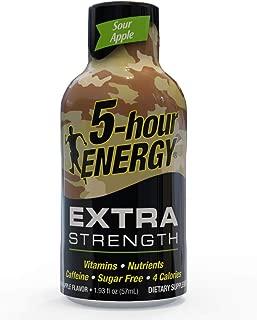 5-hour ENERGY Shot, Extra Strength Sour Apple Flavor, 1.93 Ounces. 24 pack