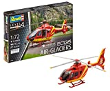 Revell-EC135 Air-Glaciers Maqueta Helicóptero,12+ Años, Multicolor, 14.3 cm de Largo (04986)