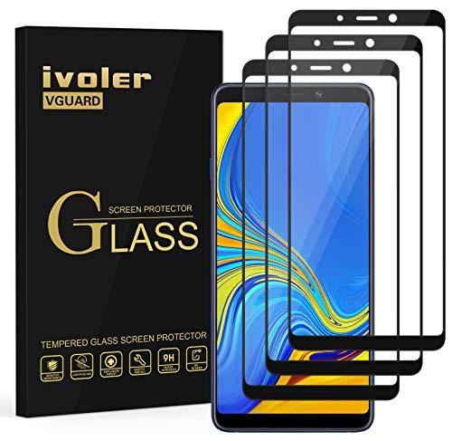 VGUARD [3 Unidades] Protector de Pantalla para Samsung Galaxy A9 2018, [Cobertura Completa] Cristal Vidrio Templado Premium, [Dureza 9H] [Anti-Arañazos] [Sin Burbujas]