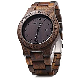 Orologio di legno comodo e naturale–sarete sorpresi dalla leggerezza di questo orologio. Il legno si abbina alla temperatura della tua pelle e non è mai troppo caldo o freddo. Inoltre, è atossico e anallergico. Vi regala anche una sensazione di con...