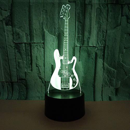Gitarre 3D USB Licht Acryl Visual Stereo 3D USB Schreibtisch Tischstempel für Wohnzimmer Deco Enfant Chambre Schreibtisch Tischstempel mit Fernbedienungsschalter Lampen