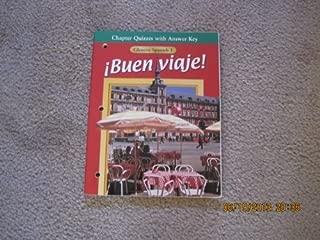 Chapter Quizzes with Answer Key, Glencoe Spanish 1, Buen Viaje!
