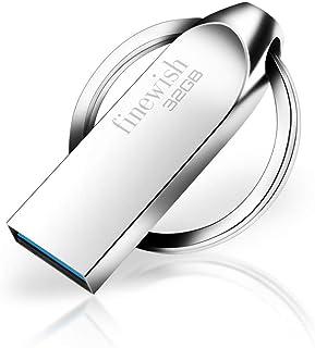 Cle USB 32 Go, Métal CLé USB 3.0 32 Go Imperméable USB 3.0 Pen Drive 32 GB Portable Clef USB 32go pour Ordinateur Portabl...