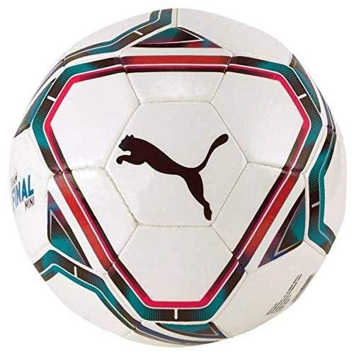 Puma teamFINAL 21.6 Mini Ball, Pallone da Calcio Unisex-Adult, White-Rose Red-Ocean Depths Black