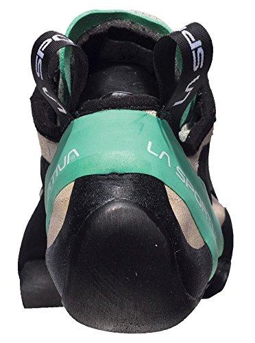 La Sportiva Miura Women's Climbing Shoe, White/Jade Green, 42