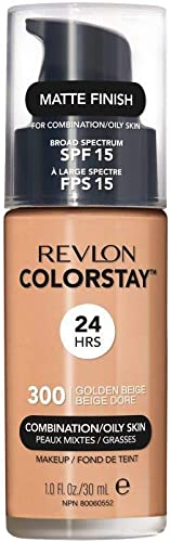 Revlon ColorStay Liquid Foundation Makeup for Combination/Oily Skin SPF 15, Longwear Medium-Full Coverage with Matte ...