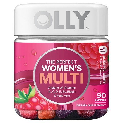 Olly The Perfect Women's Multi-Vitamin Blissful Berry Gummies - 90 Count TRG