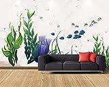 Papel Pintado 3D Planta Flor Algas Peces Pequeños Fotomurale 3D Tv Telón De Fondo Pared Decorativos Murales