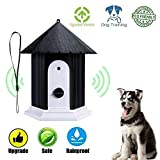 CY Outdoor Ultrasonic Dog Bark Controller No Barking House Anti-Barking Training Tool in Birdhouse Mode (Black)