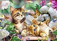 クロスステッチプレプリント猫40x50cmプレプリント刺繍セット刺繍パターンクロスステッチセット14CTDIY(プレプリントキャンバス)
