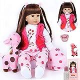 ZIYIUI 24 Pulgadas Muñeca Reborn Baby Dolls Silicona Suave Reborn Doll Female 60cm Doll Reborn Toddler Niño niña Toy Niños Mayores de Tres años(24 Pulgadas)