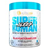 Alpha Lion Sleep, Night Time Sleep Aid for Maximize Muscle Recovery andPromotion of Deep Sleep (30 Servings, Slaughtermelon)
