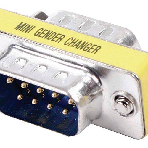 Valueline gcm-9 m9m adapterkabel – adapter voor kabels (9-pins D-Sub (M), 9-pins D-Sub (M), zilver, mannelijk, metaal)