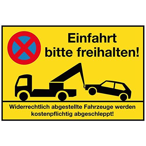 Wandkings Hinweisschild - Einfahrt bitte freihalten! - stabile Aluminium Verbundplatte - Wähle eine Größe - 40x30 cm