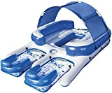 Bestway CoolerZ Tropical Breeze III Inflatable 8-Person Floating Island with UV Sun Shade and...