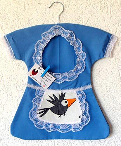 Klammerkleid, Wäscheklammerbeutel, Klammerkleidchen, Vogel Schürzchen