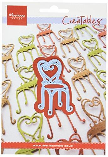 Marianne Design Creatable Französischer Bistro-Stuhl Stanzform-Cutting Die, Metall, blau, 11 x 16 x 0.5 cm