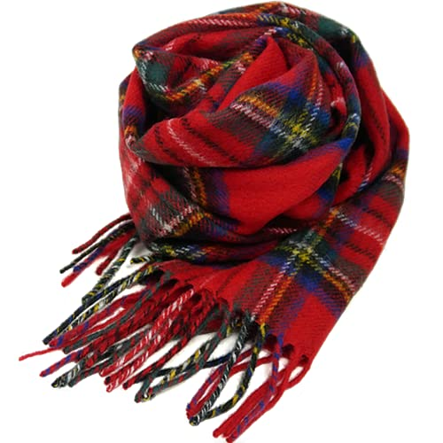 (ロキャロン) Lochcarron of scotland英国スコットランド製 ラムズウール100% タータンチェックマフラー ...