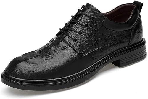 orT1 Chaussures de de de ville confortables pour hommes Décontracté Décontracté Patterns avec motif en crocodile et taille basse (noir noir, Suede noir, classique en option) Chaussures de ville confortables et c 97a