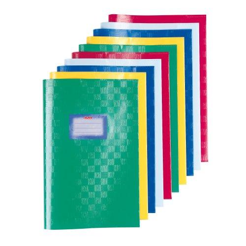 Herlitz - Copertina per quaderno A4, in raffia, confezione da 10 pezzi, colori assortiti