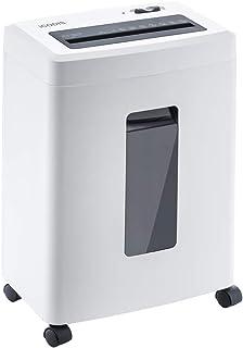 iCODIS シュレッダー 業務用 Q6 2x12mmクロスカット 最大細断6枚 使用時間15分 プラスチックカード細断対応 18L大容量 家庭用 超静音 コンパクト ホワイト