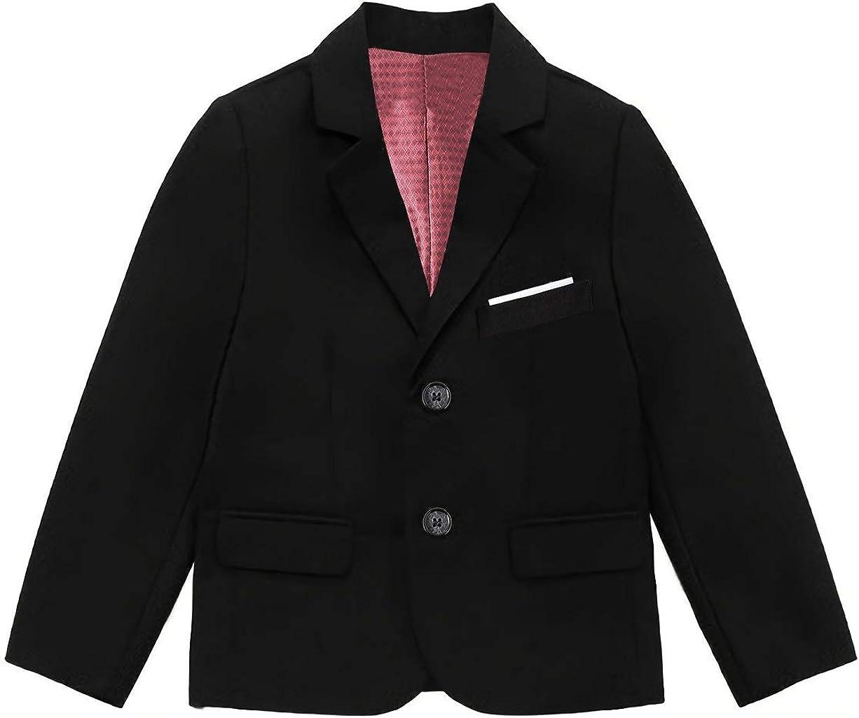 Fersumm Boys' Formal Solid Color Uniform Blazer Jacket Co NEW before Ranking TOP8 selling ☆ School