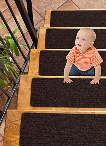 Carpet Stair Treads Non-Slip 8'x30' Brown -...