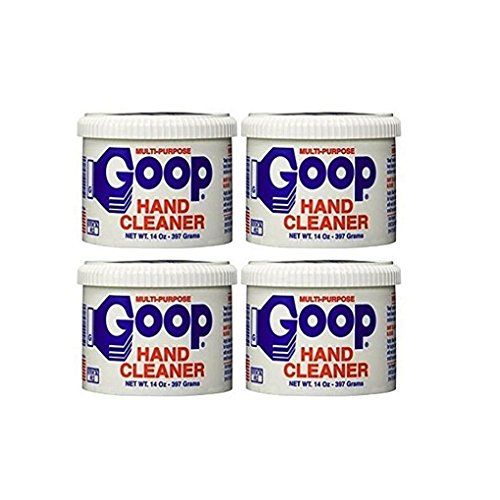 Goop Hand Cleaner and Laundry Stain Lifter and Remover (Pack of 4) 14 oz, Waterless, Non-Toxic and...
