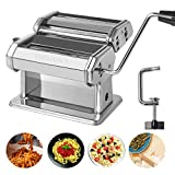 Pasta Maker - Washable Stainless Steel Noodle Maker with 7 Adjustable Thickness Settings - Manual...
