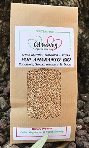 1 kg AMARANTO Soffiato BIO Senza Glutine e Senza Allergeni, Gluten & Allergen free No OGM / GMO FREE
