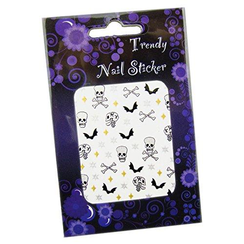 Gothic, Halloween Nailart Sticker/Nagelsticker - Scary Skulls