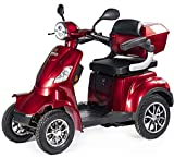 VELECO 4 Wheeled Electric Mobility Scooter 1000W Faster RED