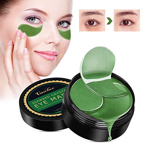 Augenpads Eye Mask Augenpads Augenringe Anti Aging Pads Collagen Treatment Algen-Eye Mask Augenpflege mit Hyaluron Entfernen Taschen dunkle Kreise Puffiness Feuchtigkeit Spendende 60pcs